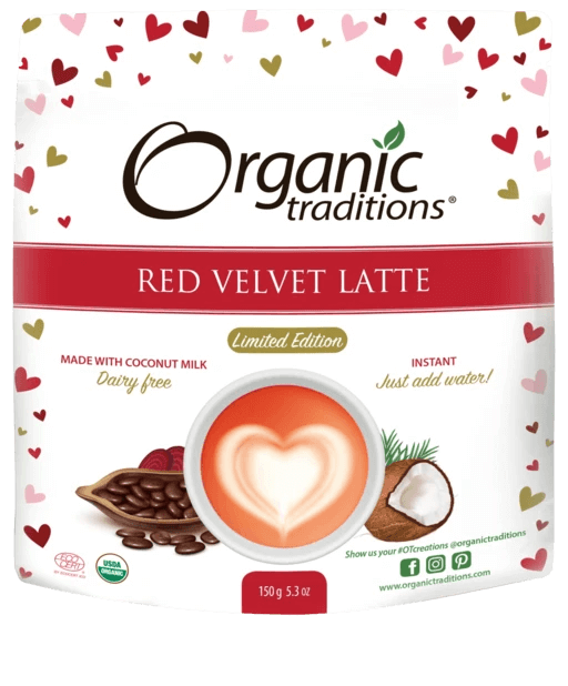 Organic Traditions Red Velvet Latte 150 g