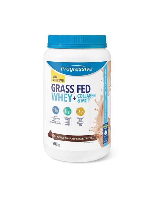Progressive Grass Fed Whey + Collagen & MCT, Chocolate