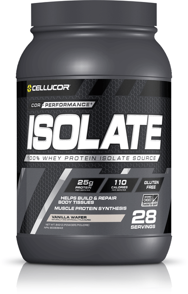 Cellucor Cor-Performance Isolate Whey Protein Vanilla Wafer 28 Servings