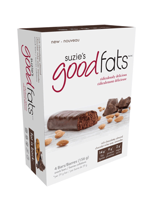 Suzie's Good Fats Rich Chocolatey Almond (Box of 4)