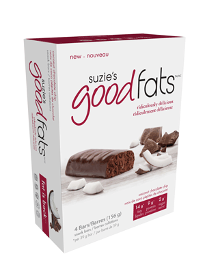 Suzie's Good Fats Coconut Chocolate Chip (Box of 4)