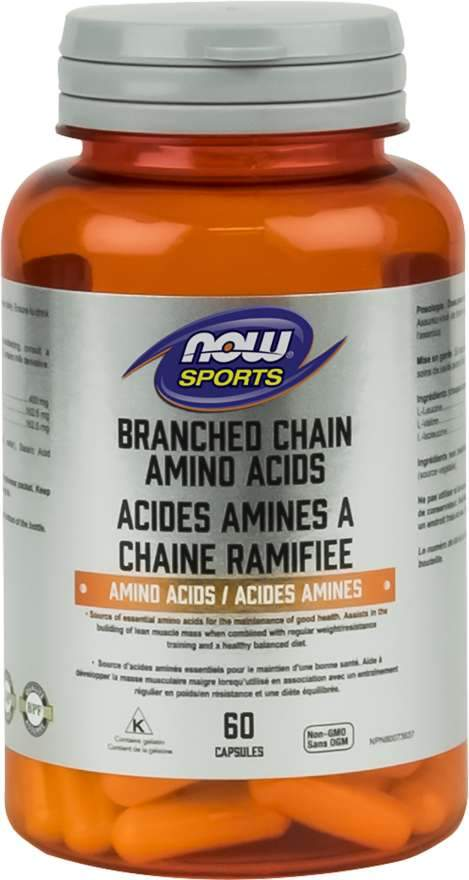 NOW Branched Chain Amino Acids 120 Capsules