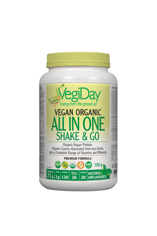 VegiDay Vegan Organic All In One Shake & Go Natural Unflavoured 720 g