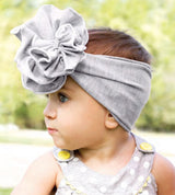Double Flower Jersey Band WHITE, Wee Ones  - So Stinkin' Cute