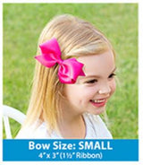 jojo bow, small bow, designer bow, boutique bow, wee stay, wee ones, bows sostinkincute, so stinkin cute