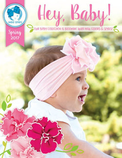Double Flower Jersey Band Light Pink, Wee Ones  - So Stinkin' Cute, boutique, designer