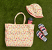 CARRY ALL TOTE / BEACH BAG HEARTS - ORGANIC