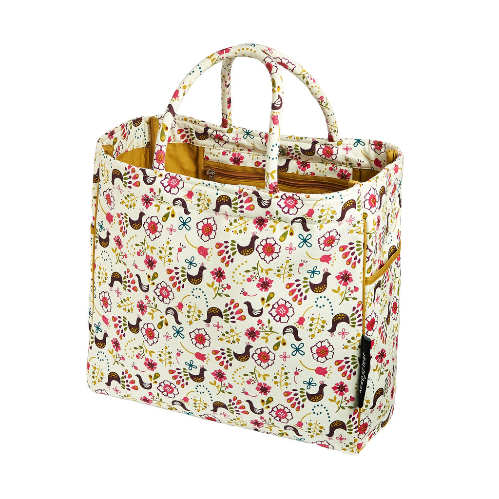CARRY ALL TOTE / BEACH BAG BIRDS - ORGANIC