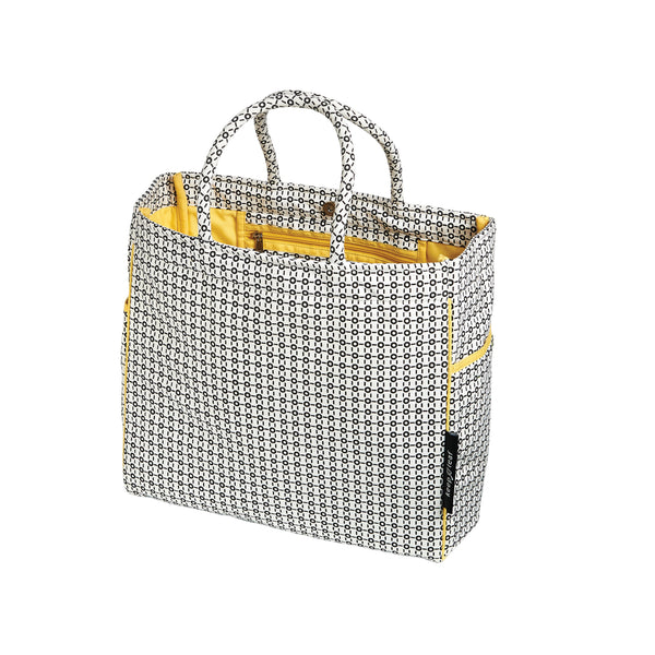 CARRY ALL TOTE / BEACH BAG B/W - ORGANIC
