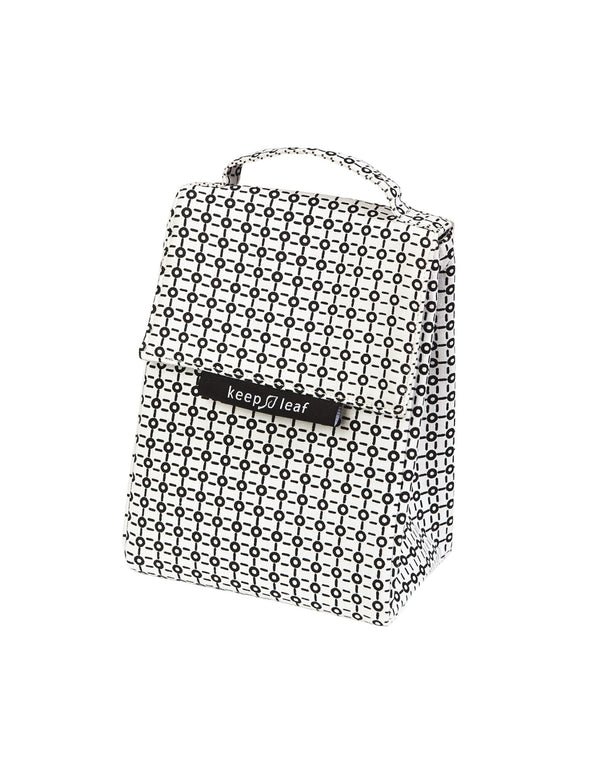 LUNCH BAG BLACK/WHITE - ORGANIC