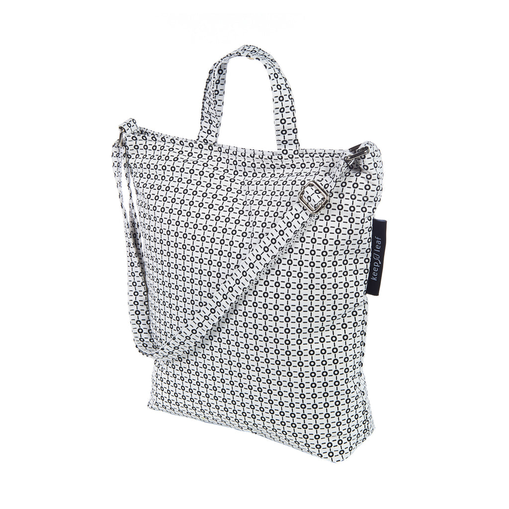 SHOULDER HAND TOTE B/W