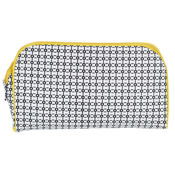 TOILETRY BAG/DIAPER CLUTCH B/W - ORGANIC