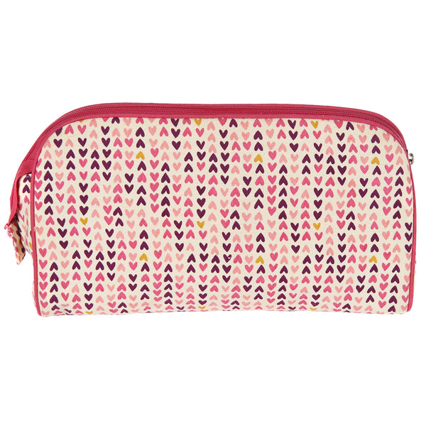 TOILETRY BAG/DIAPER CLUTCH HEARTS - ORGANIC