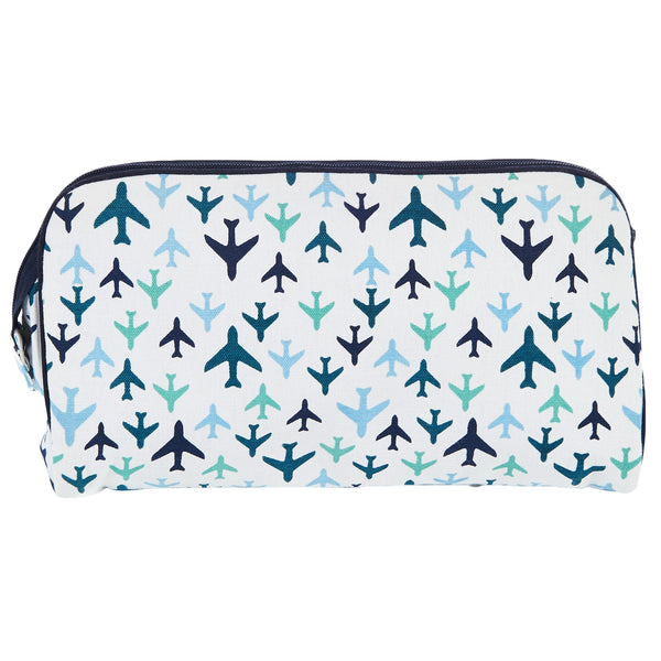 TOILETRY BAG/DIAPER CLUTCH PLANES - ORGANIC