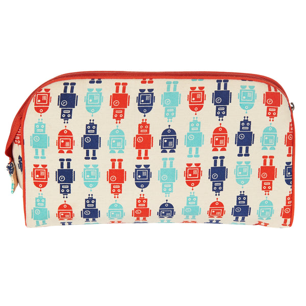 TOILETRY BAG/DIAPER CLUTCH ROBOT - ORGANIC