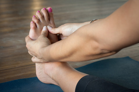 don't wear shoes or socks for yoga