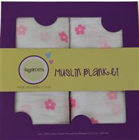 Sugardots - Muslin Blankets (2 Pack)