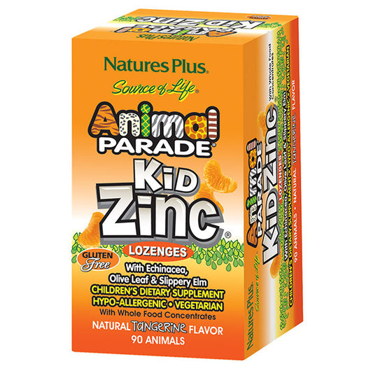 Animal Parade - KidZinc Lozenges Tangerine 90's - Lil' Sprout