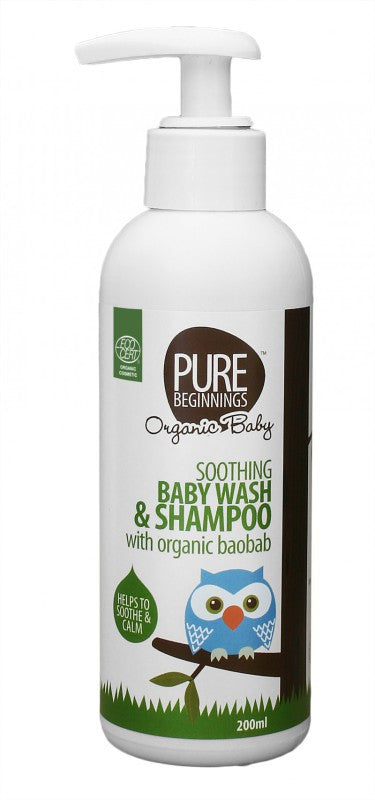 Pure Beginnings - Soothing Baby Wash & Shampoo with Organic Baobab