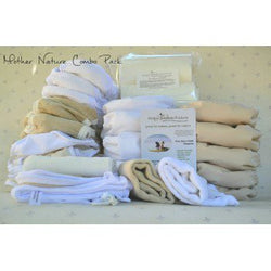 Mother Nature - Combo Pack (15 All-In-One Nappies, 2 Inserts, 6 Nature Nappies, 6 Covers, 1 Night Covers, 1 Liner) - Lil' Sprout