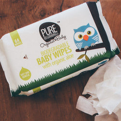 Pure Beginnings - Biodegradable Baby Wipes with Organic Aloe