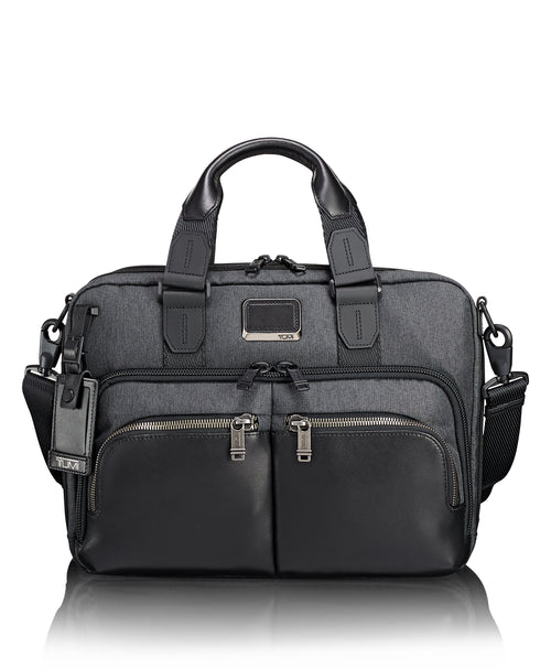 Tumi Alpha Bravo Albany Slim Commuter Brief - Anthracite | MEGO