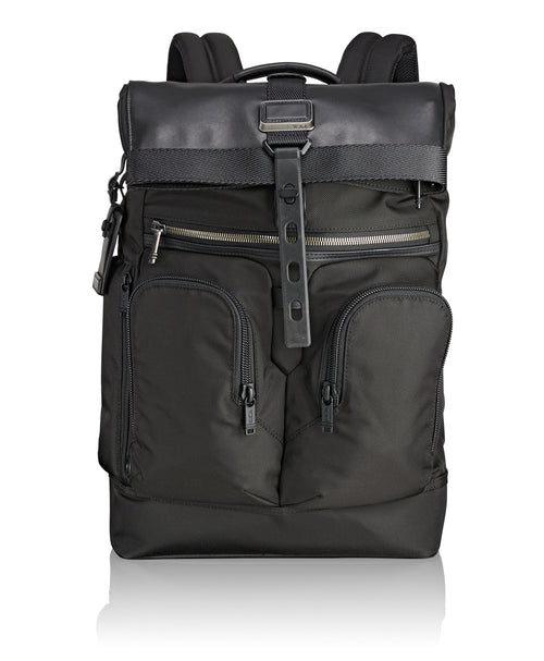 Tumi Alpha Bravo London Roll-Top Backpack - Black | MEGO