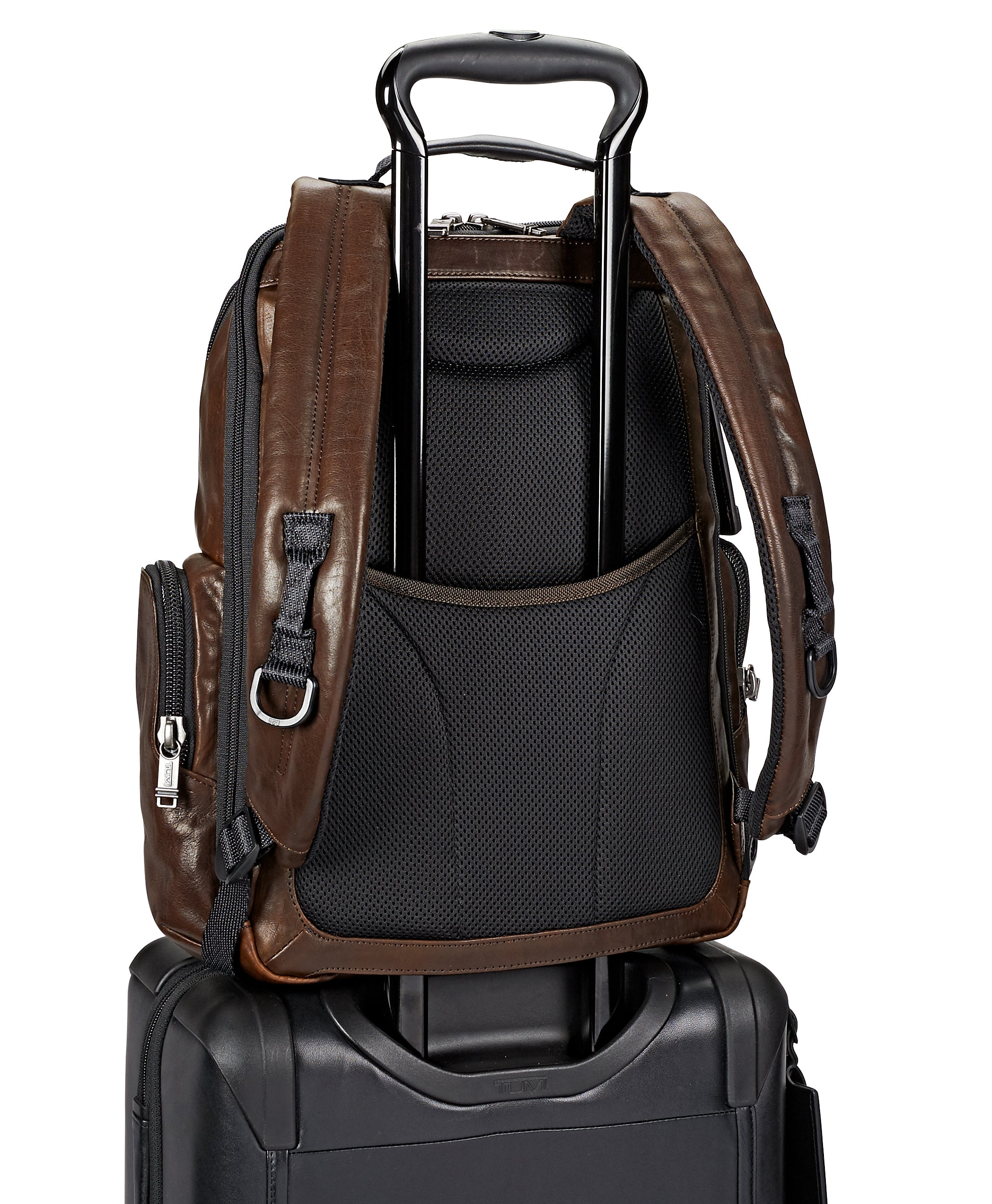 Tumi Alpha Bravo Nellis Leather Backpack - Dark Brown | MEGO