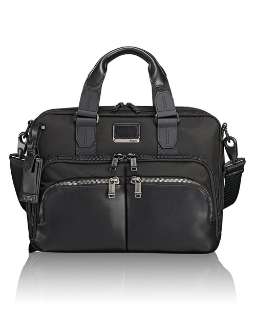 Tumi Alpha Bravo Albany Slim Commuter Brief - Black | MEGO