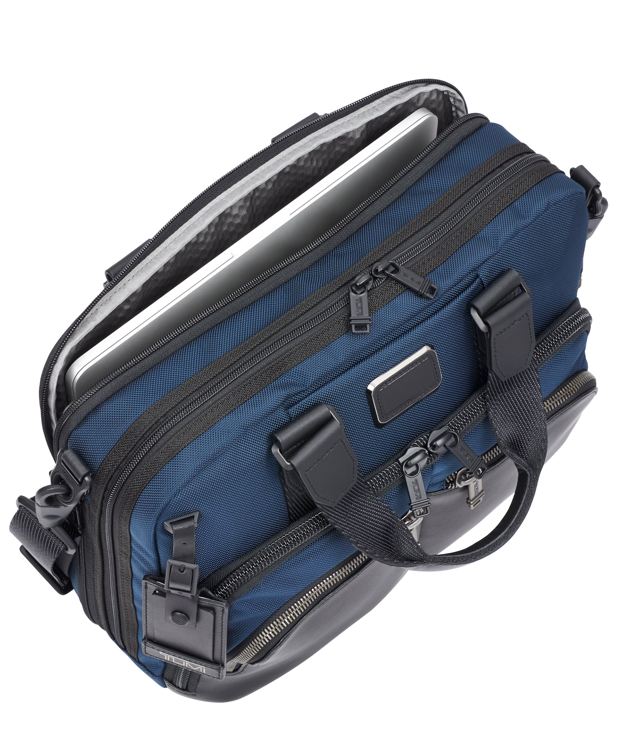 Tumi Alpha Bravo Albany Slim Commuter Brief - Navy | MEGO