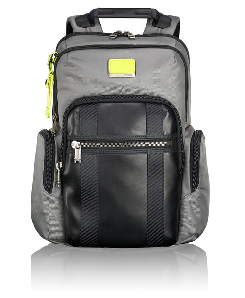 Tumi Alpha Bravo Nellis Backpack - Grey/ Citron Pop | MEGO