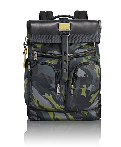 Tumi Alpha Bravo London Roll-Top Backpack - Green Camo | MEGO