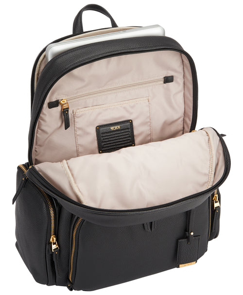 Tumi Voyageur Calais Leather Backpack - Black | MEGO
