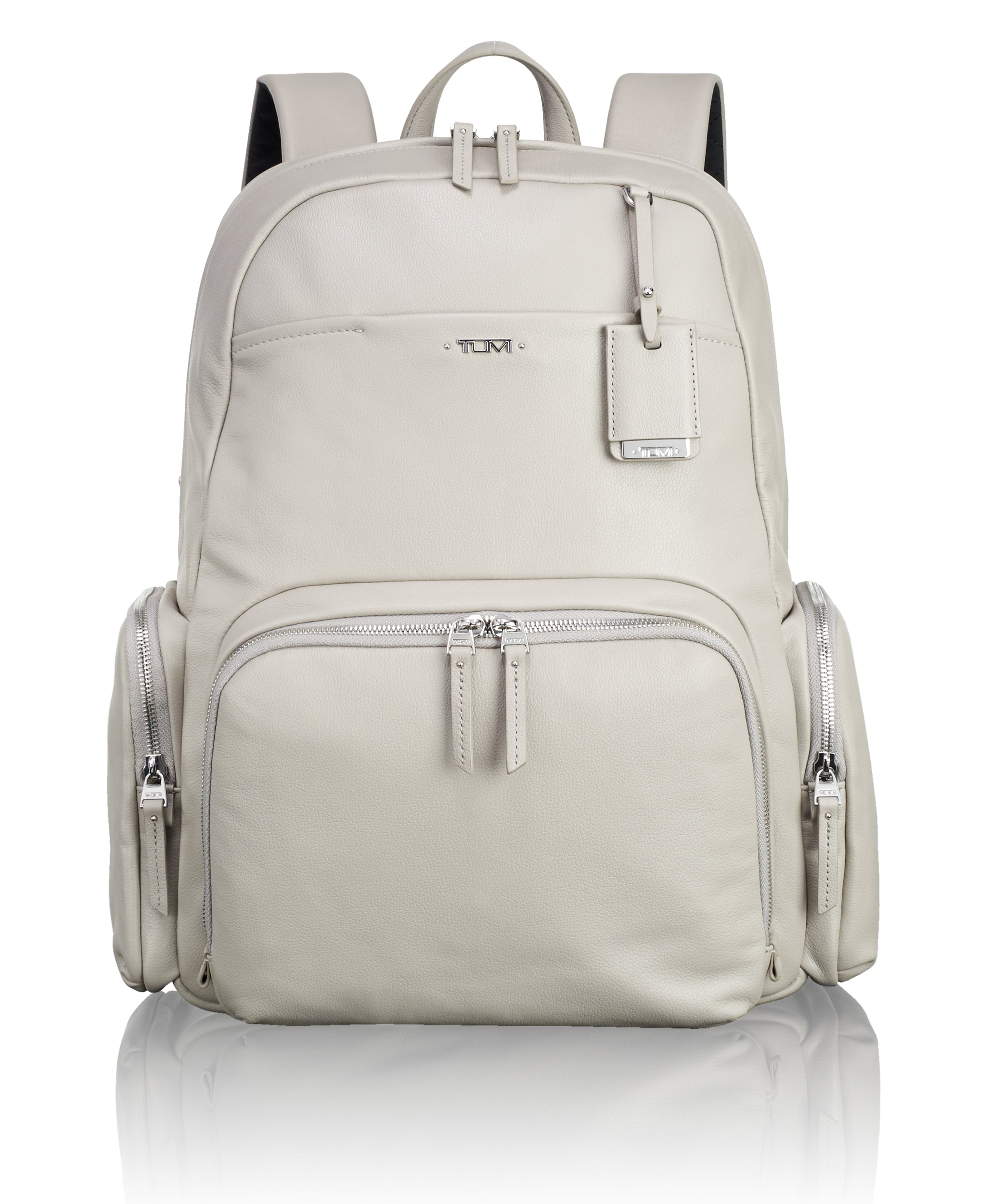 Tumi Voyageur Calais Leather Backpack - Grey | MEGO