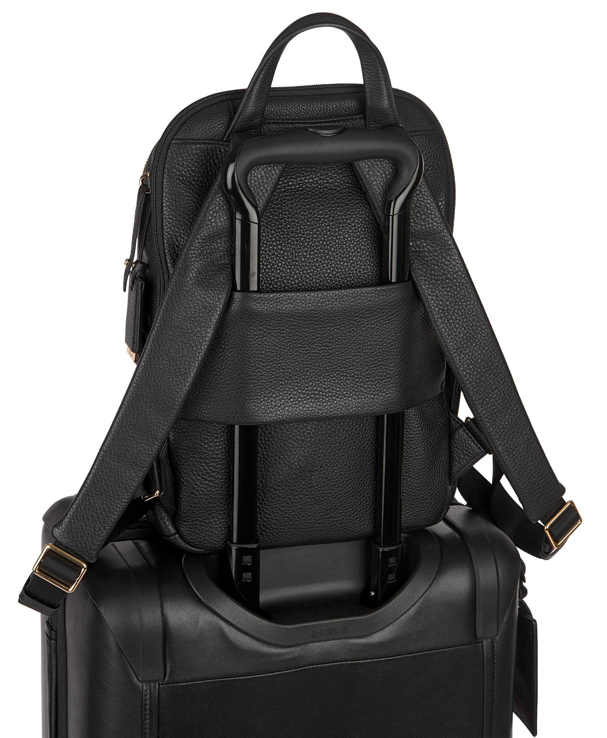 Tumi Voyageur Daniella Small Leather Backpack - Black | MEGO