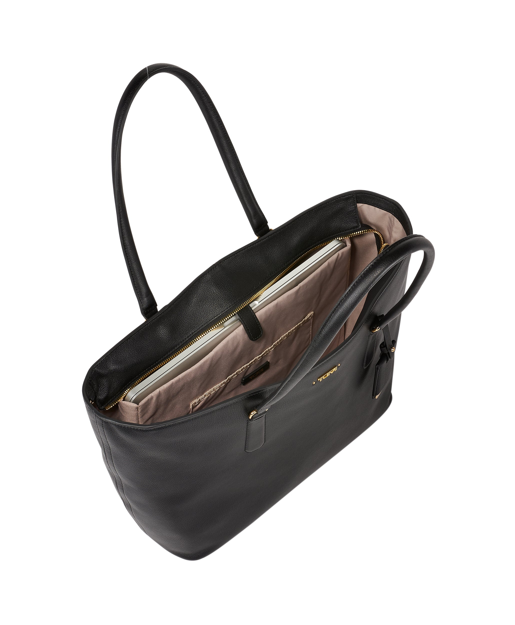 Tumi Voyageur Carolina Leather Tote - Black