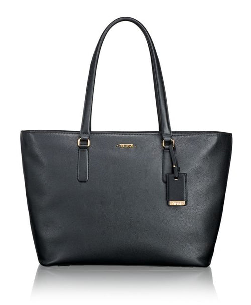 Tumi Voyageur Carolina Leather Tote - Black | MEGO