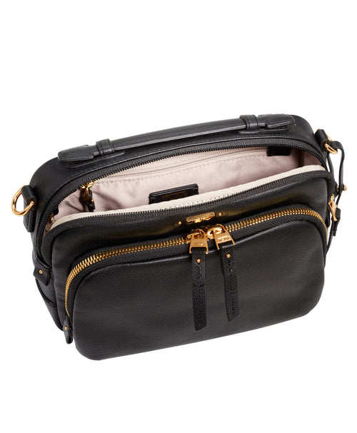 Tumi Voyageur  Luanda Leather Flight Bag - Black | MEGO