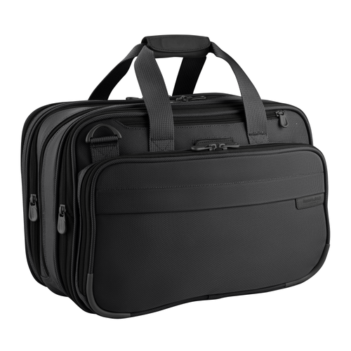 "Briggs & Riley Baseline 11"" Expandable Cabin Bag - Black 