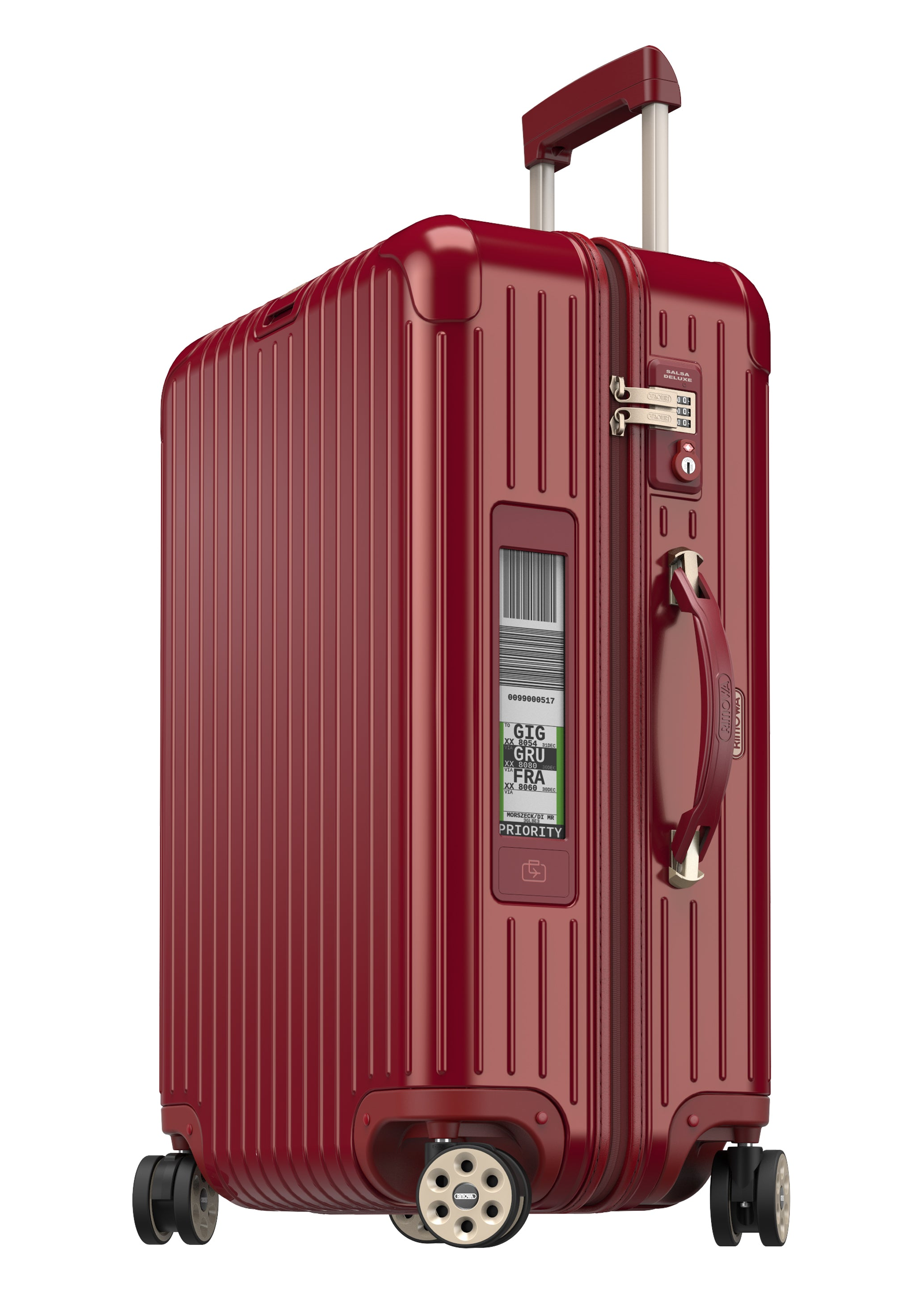"Rimowa Salsa Deluxe 26"" (63) E-Tag Multiwheel - Oriental Red 