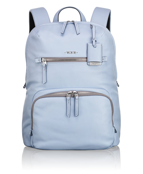 Tumi Voyageur Halle Leather Backpack - Light Blue | MEGO