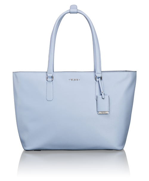 Tumi Voyageur Carolina Leather Tote - Light Blue | MEGO