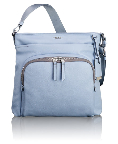 Tumi Voyageur Capri Leather Crossbody - Light Blue | MEGO