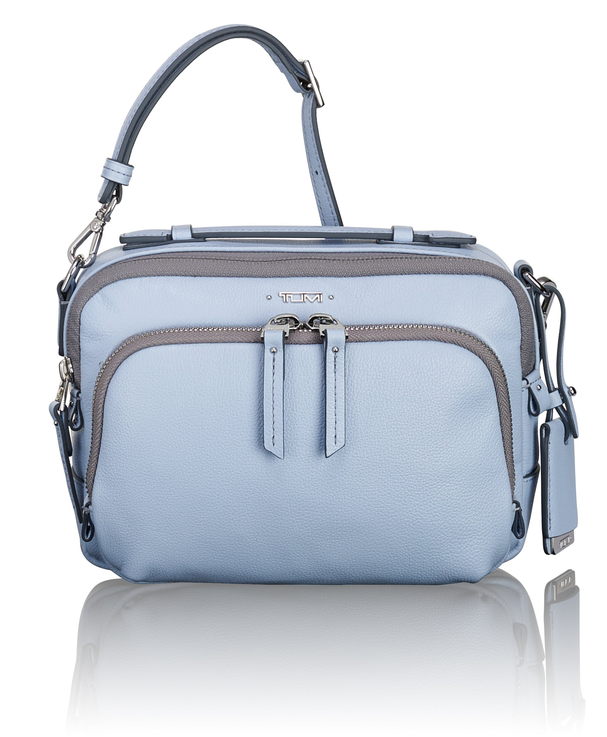 Tumi Voyageur  Luanda Leather Flight Bag - Light Blue | MEGO