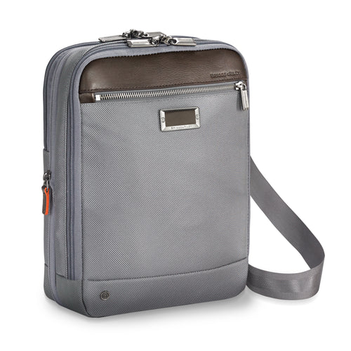 BRIGGS & RILEY @WORK SMALL EXPANDABLE CROSS BODY - GREY | MEGO Canada