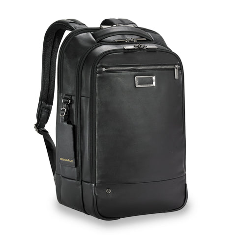 Tumi Alpha Bravo Nellis Leather Backpack - Dark Brown