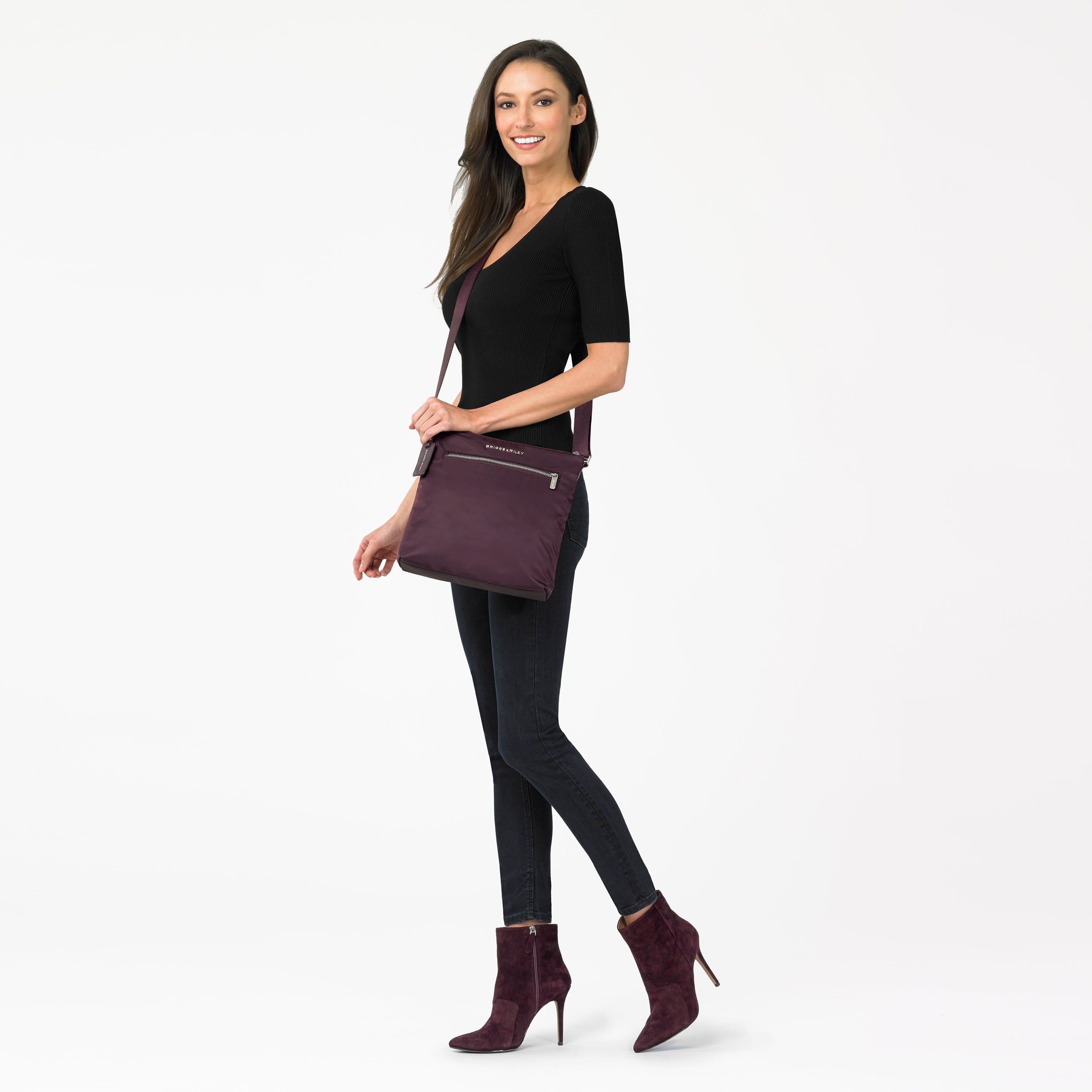 Briggs & Riley Rhapsody Crossbody - Plum