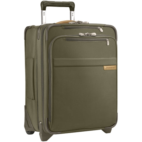 "Briggs & Riley Baseline 22"" Domestic Carry-On Expandable Spinner - Olive"