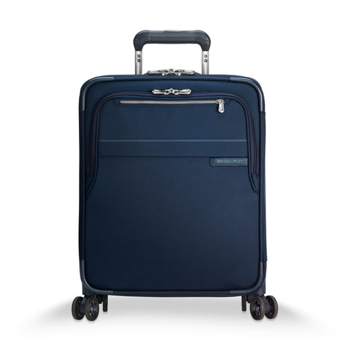 "Briggs & Riley Baseline 21"" International Carry-On Expandable Wide-body Spinner - Navy Blue 