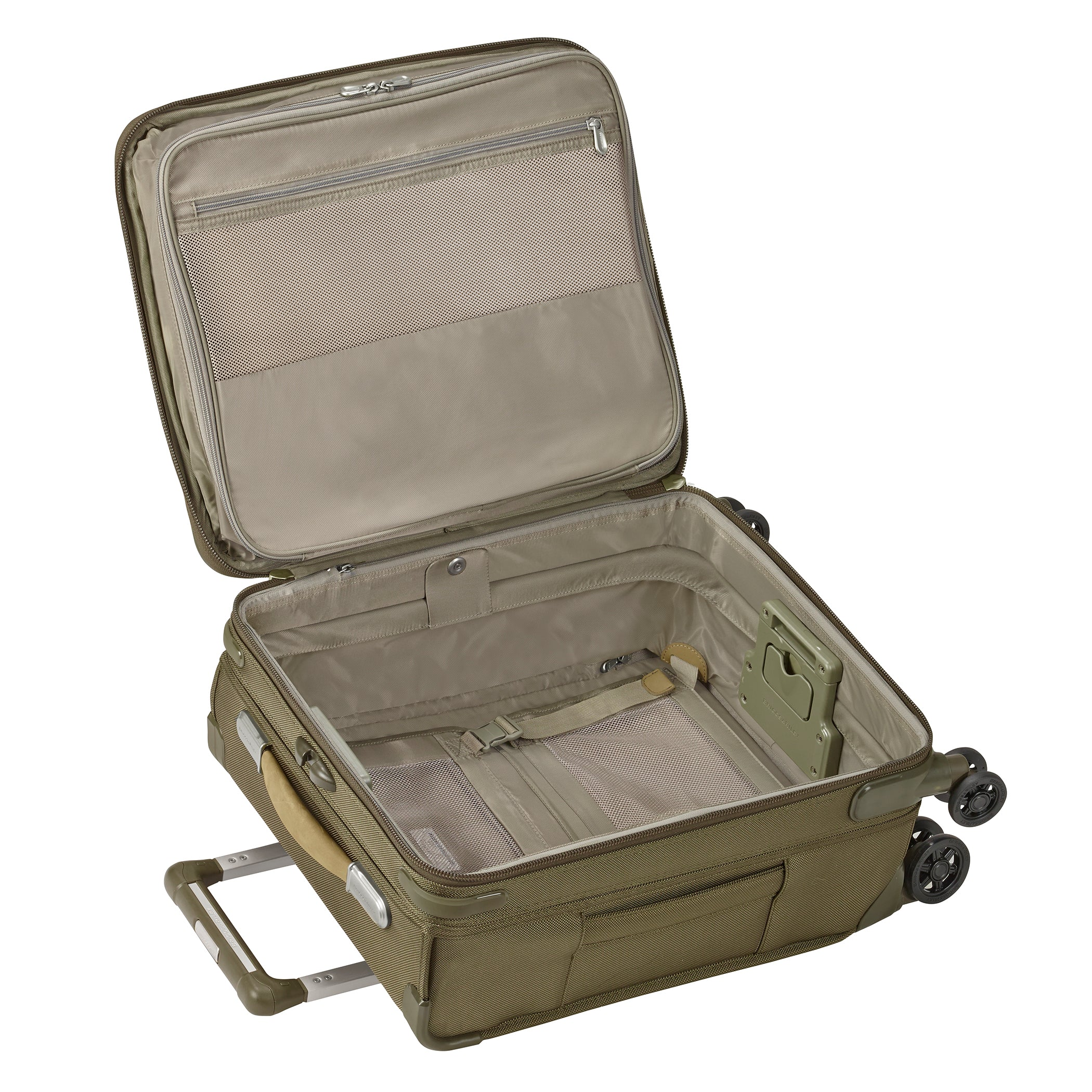 "Briggs & Riley Baseline 21"" International Carry-On Expandable Wide-body Spinner - Olive 